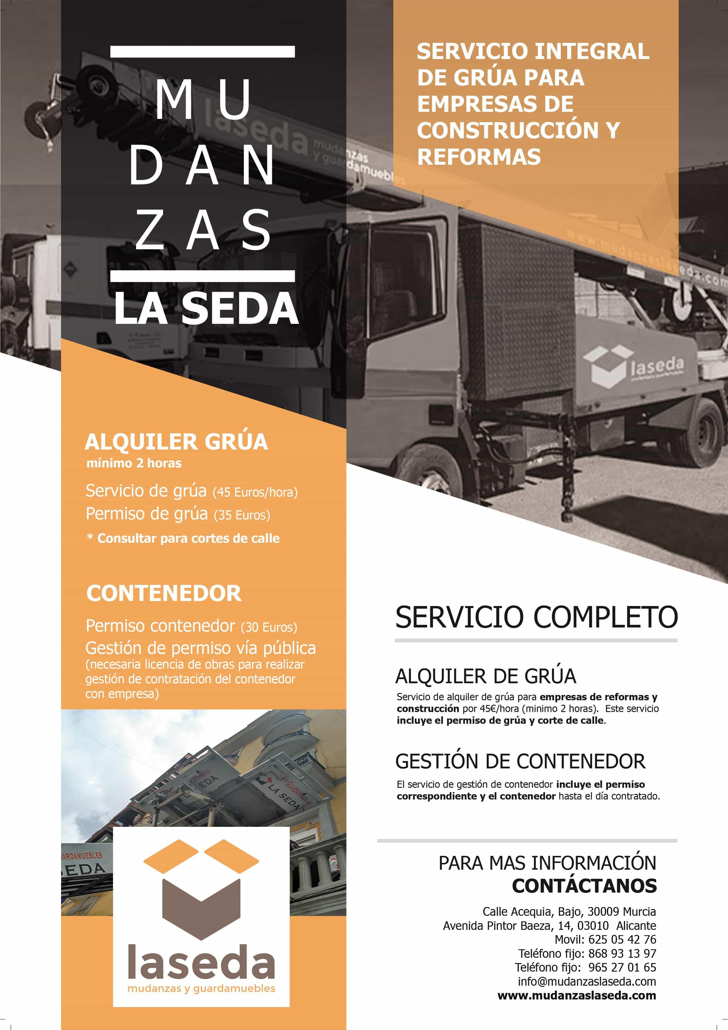 Mudanzas Con Grua En Murcia Y Alicante La Seda # Muebles Seda Murcia