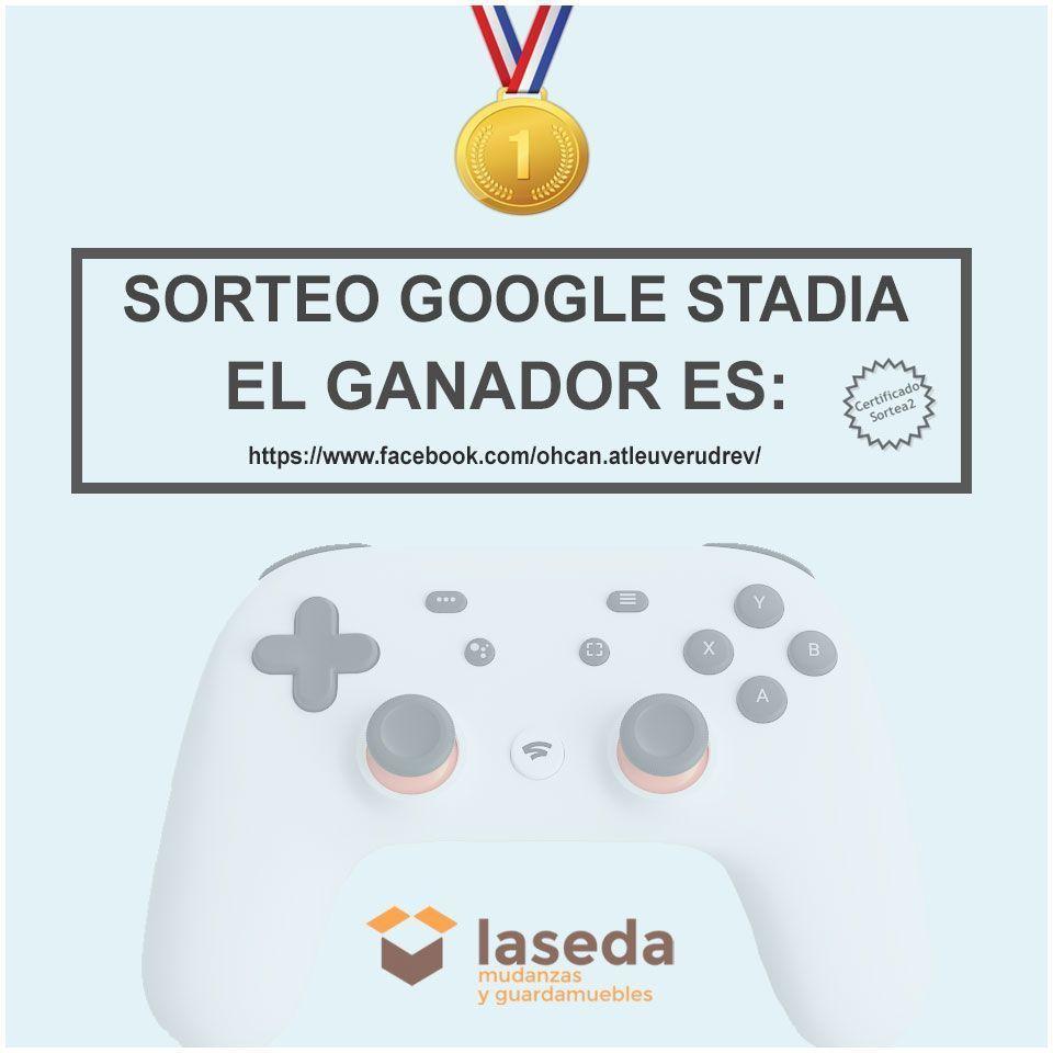 Enhorabuena al ganador del SORTEO #QUEDATEENCASA con Mudanzas La Seda que incluye el mando para jugar y un Google ChromecasT.