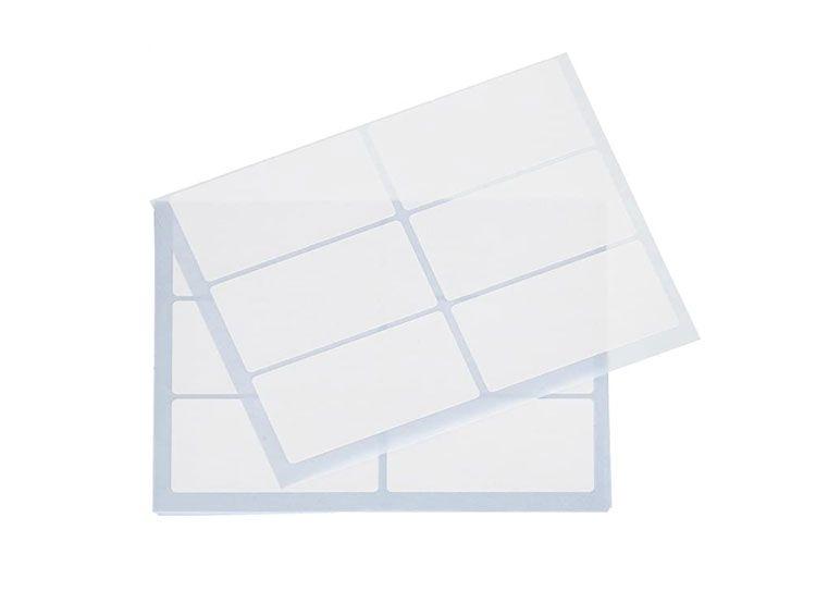 Tico España 947910 E-7438 Etiquetas A5 blancas adhesivas escribible 74x38 mm, sobre de 10 hojas