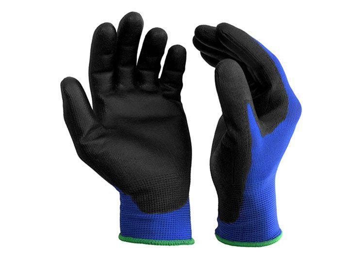 S&R 12 pares de guantes protectores de fibra de nailon con revestimiento de poliuretano, aptos para uso doméstico y comercial